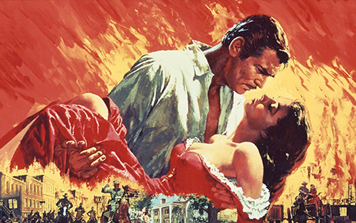 Hot Hits of the Silver Screen - poster from Gone with the Wind
