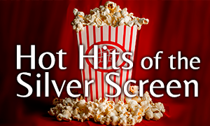 Hot Hits of the Silver Screen - popcorn container with KSS logo