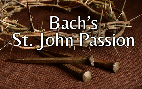 Bach's St. John Passion - image of a crown of thorns and three antique nails